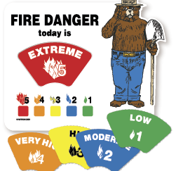 Fire Danger Vehicle Sign