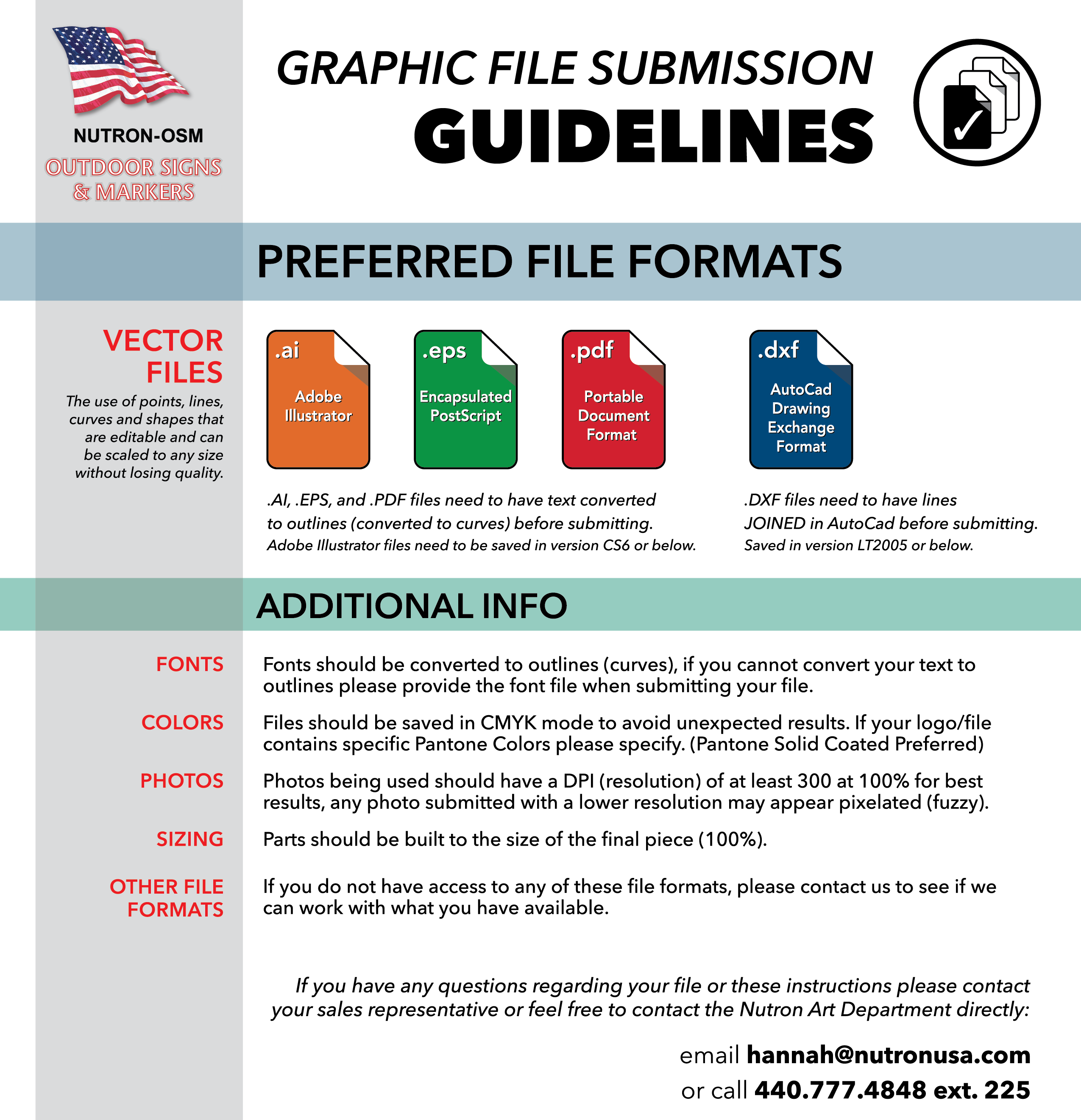 Artwork Submission Guidelines Infographic