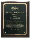 Wildfire Prevention Award - Testimonials